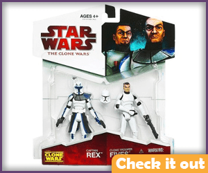 Fives and Rex Figures.