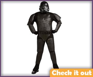 Shadow Trooper Bodysuit Costume Set.