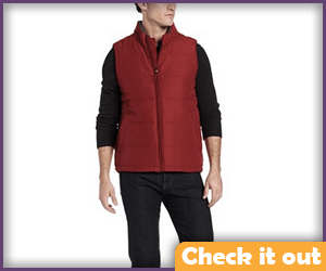 Red Puffer Vest.