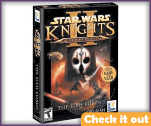 Star Wars Knights of the Old Republic 2: The Sith Lords PC Game.