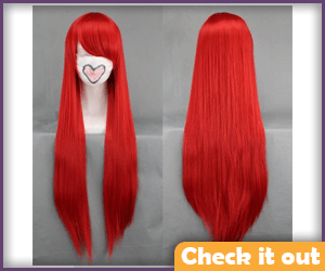 Lighter Red Long Wig.