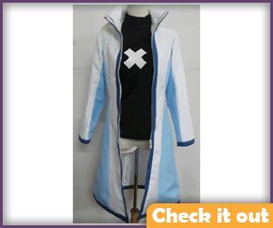 Gray Fullbuster White and Blue Costume Set.
