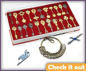 Lucy Heartfilia Golden Zodiac Keys, Set of 22.