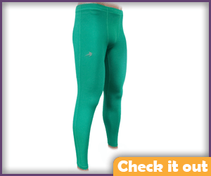 Green Compression Pants.
