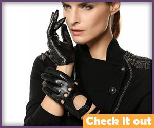 Black Punk Gloves.