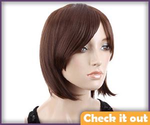 Short Brown Wig.