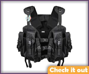 Women's Black Tactical Vest.