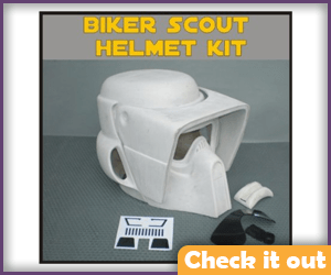 Biker Scout Trooper Costume Helmet DIY.