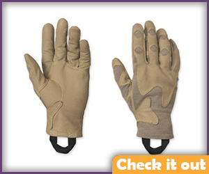 Tan Gloves.