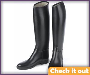 Men's Black Riding Boots.