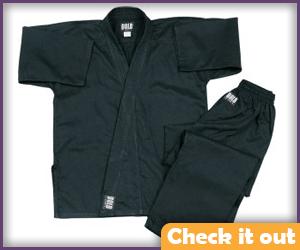 Black Karate Uniform.