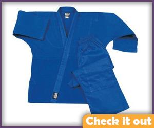 Blue Karate Uniform.