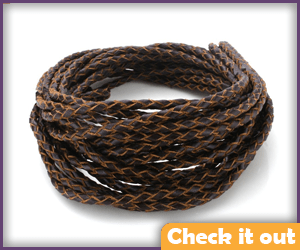 Brown Woven Cord (for hat brim).