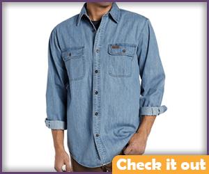 Denim Two-Pocket Shirt.