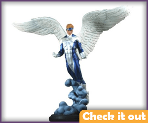 Blue Costume Angel Statue.