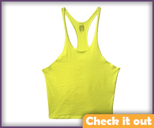 Men's Yellow Muscle Tee.