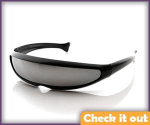 Black Shield Sunglasses.