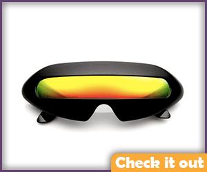 Black Visor Sunglasses.