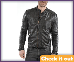 X-Men Quilted Leather Jacket.