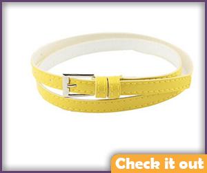 Yellow Wrap Belt.