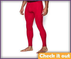 Deep Red Compression Leggings.