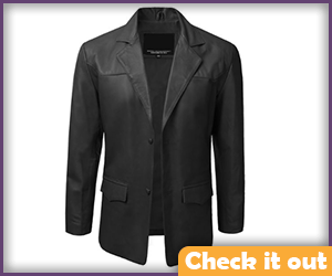 Ian Malcolm Costume Black Leather Jacket.