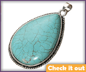 Natural Turquoise Pendant.