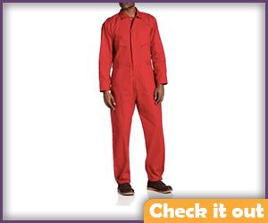 Men's Red Jumpsuit.