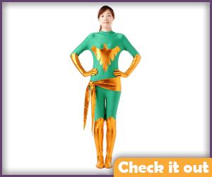 Jean Grey Costume Green Bodysuit.