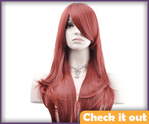 Jean Grey Costume Red Straight Wig.