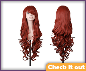 Long Red Wig.