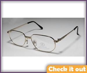 Gold Frame Rounded Glasses.