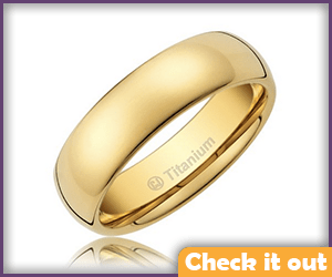 Gold Wedding Band.