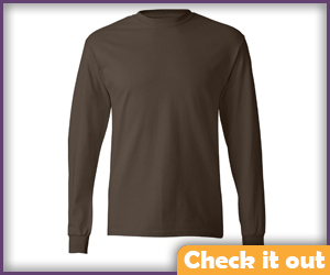 Brown Long Sleeve Shirt.