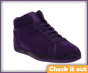 Purple Sneakers.