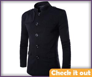 Black Tunic Style Jacket.