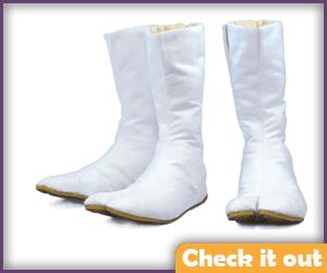 White Tabi Shoes.