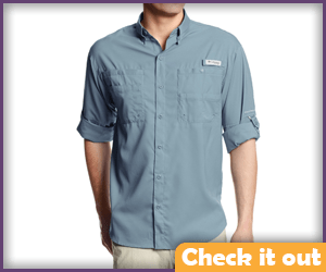 Blue-Gray Safari Shirt.