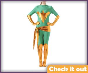 Phoenix Green Bodysuit.