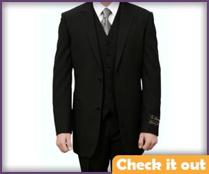 Three-Piece Black Suit.