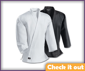 Martial Arts White Wrap Shirt.