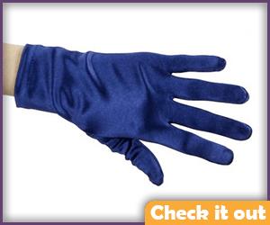 Navy Blue Costume Gloves.