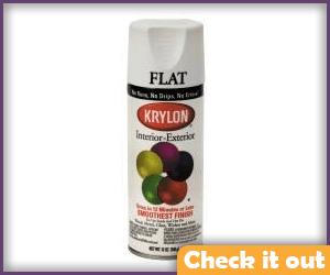 Flat White Spray Paint.