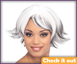 Storm Costume Short Wig.