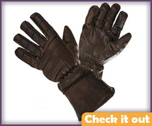 Brown Gauntlet Gloves.