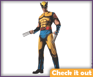Wolverine Costume Adult Bodysuit.
