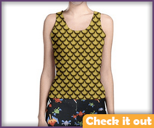 Gold Scale Tank Top.