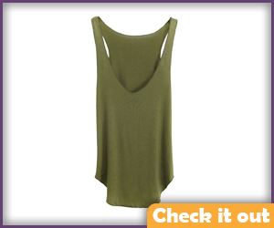 Green Loose Tank Top.