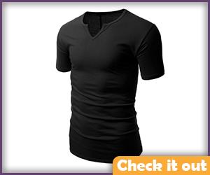Black Short Sleeve Tight Shirt.