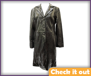 Snakeskin Trench Coat.